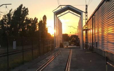 DIVISEGUR fabrica una carpa para un fabricante ferroviario de Barcelona